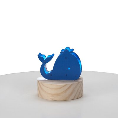 Whale Wood Night Light
