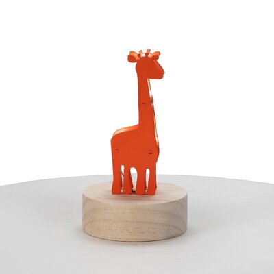 Giraffe Wood Night Light