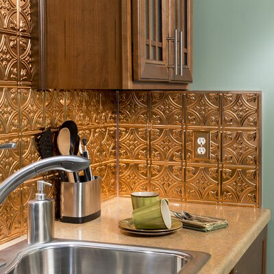 Backsplash Accessory Specialty Piece Tile Trim Color: Polished Copper