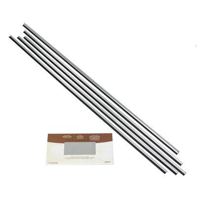 Backsplash Large Profile Accessory Specialty Piece Tile Trim Color: Brushed Aluminum