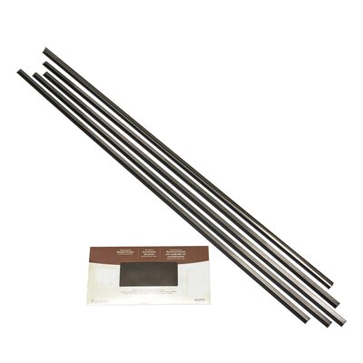 Backsplash Large Profile Accessory Specialty Piece Tile Trim Color: Brushed Nickel