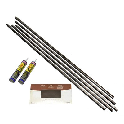 Backsplash Large Profile Accessory Specialty Piece Tile Trim Color: Brushed Nickel