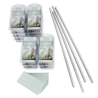 "Aspect 3"" x 6"" Glass Peel & Stick Subway Tile Kit in Morning Dew"