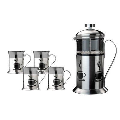5-Piece Stainless Steel Bistro Coffee Set 2212561