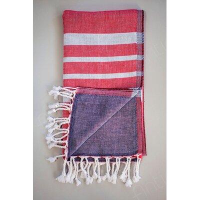 Alya Bath Towel Color: Red