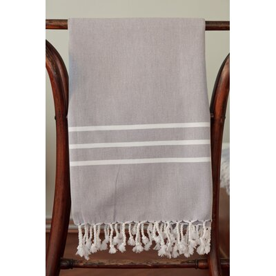 Burns Striped Bath Towel Color: Gray