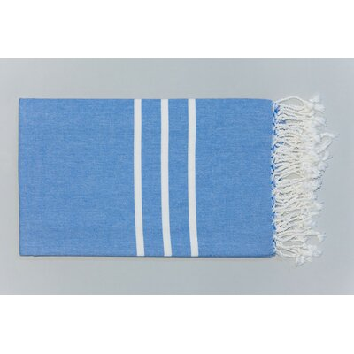 Burns Striped Bath Towel Color: Royal Blue