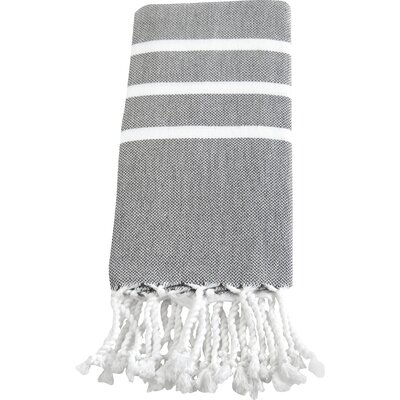 Burns Hand Towel Color: Grey / White