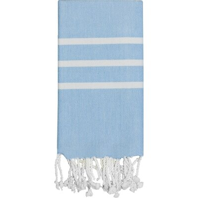 Burns Hand Towel Color: Baby Blue / White