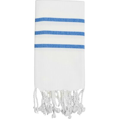 Classic Hand Towel Color: White / Royal Blue
