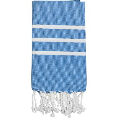Burns Hand Towel Color: Royal Blue / White