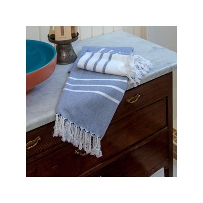 Burns Striped Bath Towel Color: Baby Blue