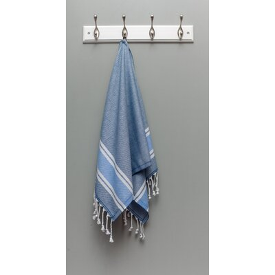 Myndos Hand Towel Color: Navy/Royal Blue Stripe
