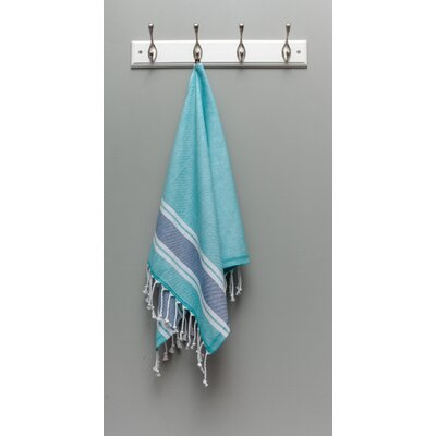 Myndos Hand Towel Color: Turquoise/Navy