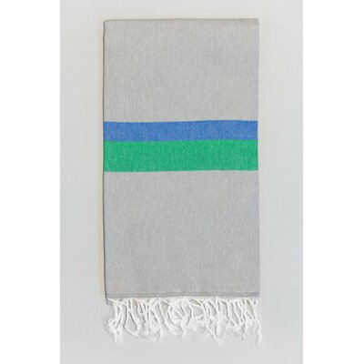 Knidos Beach Towel Color: Gray/Royal Blue/Green