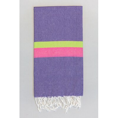 Knidos Beach Towel Color: Purple/Lime Green/Pink