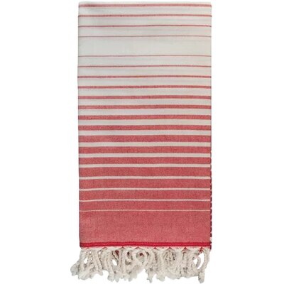 Illusion Bath Towel Color: Red