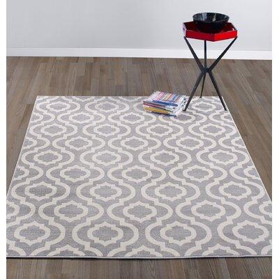 Buchan Grey/Ivory Area Rug Rug Size: 53 x 73