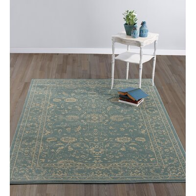 Queen Teal Area Rug Rug Size: 710 x 910