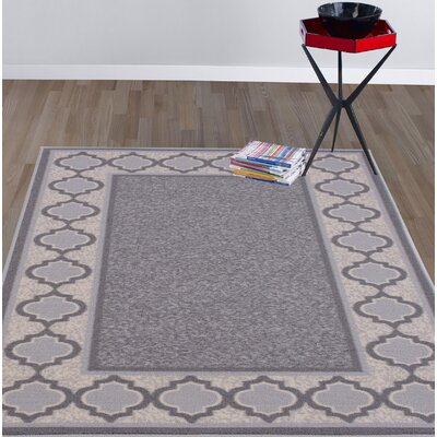 Anne Gray/Ivory Area Rug Rug Size: 33 x 5