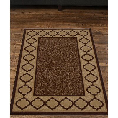 Anne Brown/Beige Area Rug Rug Size: 5 x 66