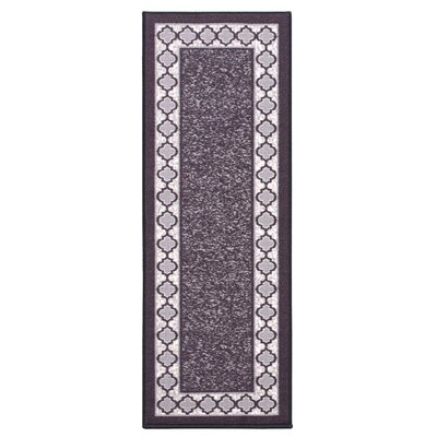 Anne Charcoal Area Rug Rug Size: Runner 27 x 910