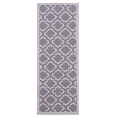 Anne Light Gray/Dark Gray Area Rug Rug Size: Runner 27 x 910