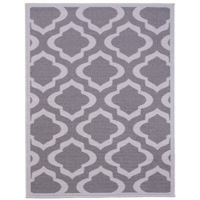 Anne Light Gray/Dark Gray Area Rug Rug Size: 18 x 411