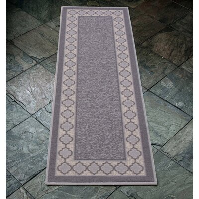 Anne Gray/Ivory Area Rug Rug Size: Runner 23 x 6