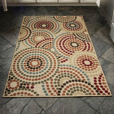 Anne Multi-Coloured Area Rug Rug Size: 5 x 66