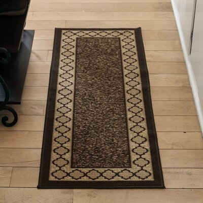 Anne Brown/Beige Area Rug Rug Size: Runner 27 x 910