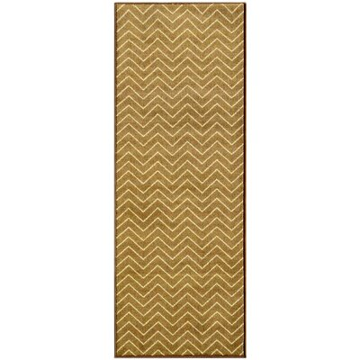 Avalon Brown/Beige Area Rug Rug Size: Runner 18 x 411