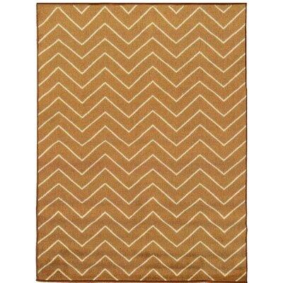 Avalon Brown/Beige Area Rug Rug Size: 33 x 5