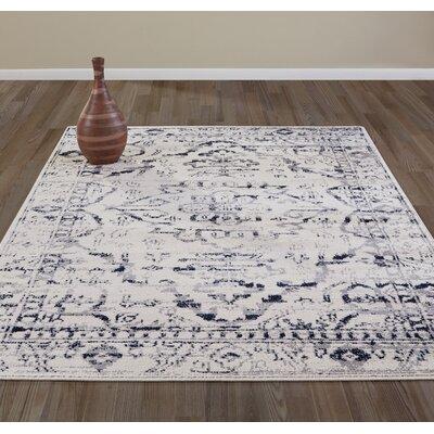 Jasmin Medallion Beige/Gray Area Rug Rug Size: 53 x 73