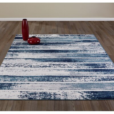 Chelsi Teal Area Rug Rug Size: Rectangle 67 W x 93 L