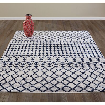 Peabody Moroccan Beni Ourain Beige Area Rug Rug Size: 710 x 910