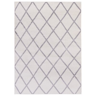 Kester Moroccan Trellis Ivory/Gray Area Rug Rug Size: 53 x 73
