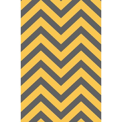 Anne Chevron Yellow/Gray Area Rug
