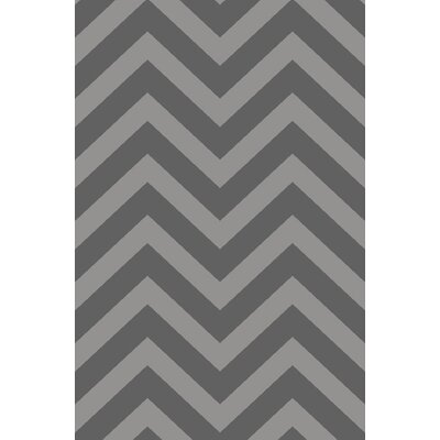 Anne Chevron Gray Area Rug Rug Size: Runner 27 x 91