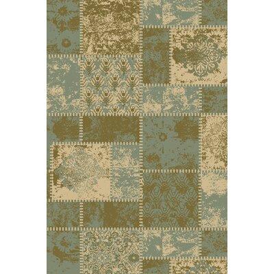 Anne Patchwork Teal/Olive Area Rug Rug Size: Runner 18 x 411