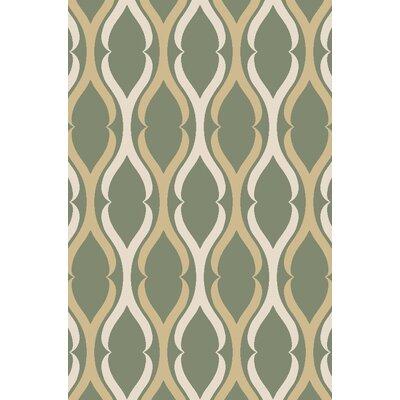 Anne Moroccan Trellis Olive/Beige Area Rug Rug Size: Runner 27 x 910