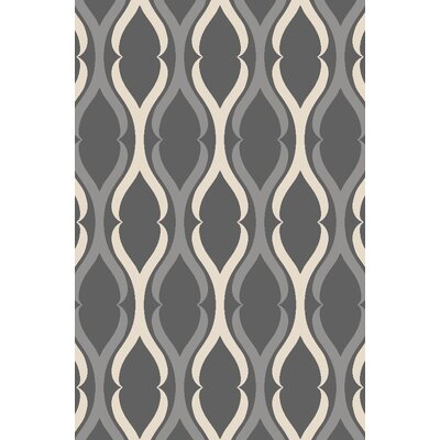 Anne Moroccan Trellis Gray Area Rug Rug Size: Runner 22 x 6