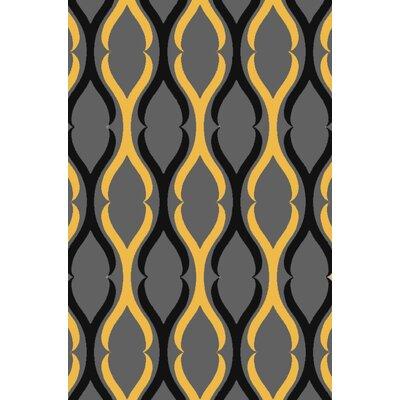 Anne Moroccan Trellis Gray/Yellow Area Rug