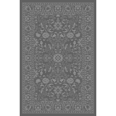 Anne Oriental Mahal Gray Area Rug Rug Size: Runner 18 x 411