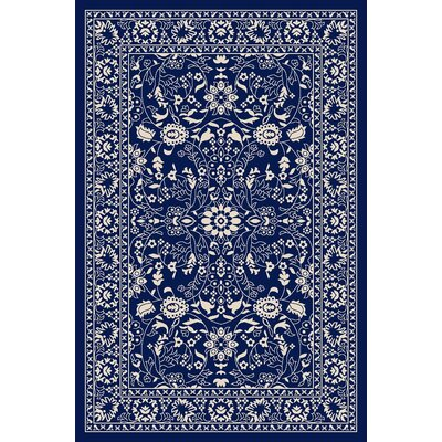 Anne Oriental Mahal Blue Area Rug Rug Size: 5 x 66