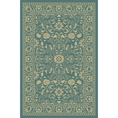 Anne Oriental Mahal Teal/Beige Area Rug Rug Size: Runner 22 x 6