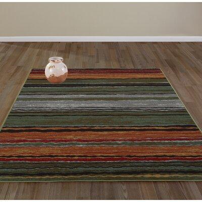 Anne Stripe Orange/Red Area Rug Rug Size: Runner 22 x 6