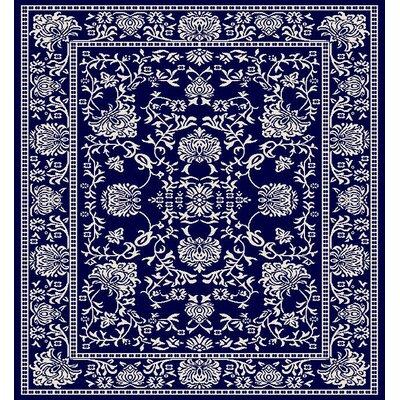 Zander Mahal Navy/Ivory Area Rug Rug Size: 710 x 910