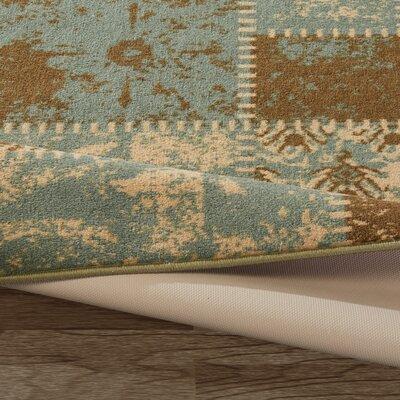 Anne Patchwork Teal/Olive Area Rug Rug Size: 5 x 66