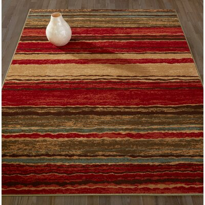 Anne Stripe Red/Brown Area Rug Rug Size: Runner 22 x 6